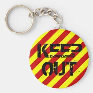 KEEP OUT BASIC ROUND BUTTON KEY RING
