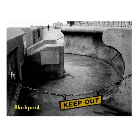 Keep Out - Blackpool Postcard
