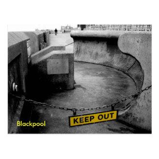Keep Out - Blackpool Postcards