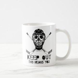 Keep Out Hockey Goalie Coffee Mug