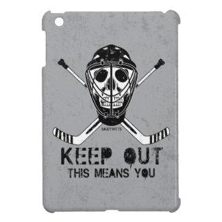 Keep Out Hockey Goalie Skull iPad Mini Cases