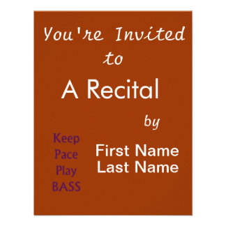 Keep pace Play bass purple text Personalized Announcement