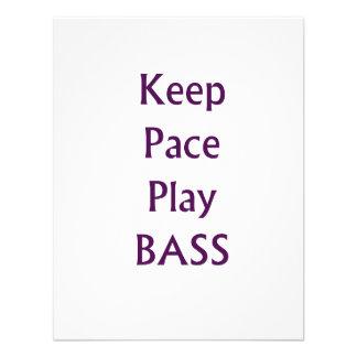 Keep pace Play bass purple text Invitation