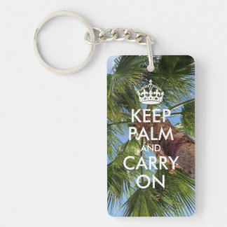 Keep Palm and Carry On Key Ring