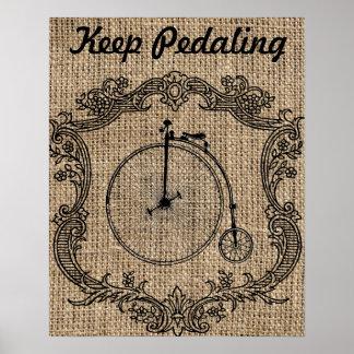 Keep Pedaling Poster