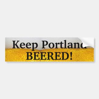 Keep Portland BEERED (II)! Bumper Sticker