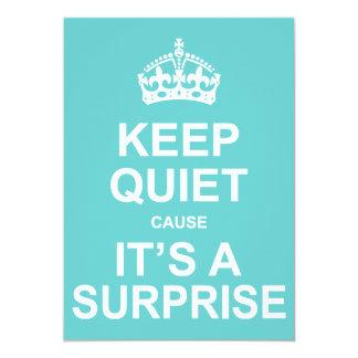 Keep Quiet Cause It's A Surprise Party 13 Cm X 18 Cm Invitation Card