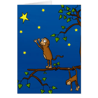 Keep Reaching Monkey Stationery Note Card