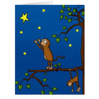 Keep Reaching Monkey Greeting Card