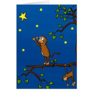 Keep Reaching Monkey Note Card