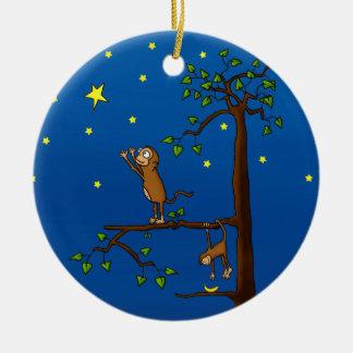 Keep Reaching Monkey Ornament