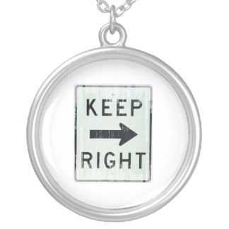 KEEP RIGHT Faded.png Personalized Necklace