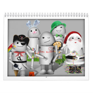 Keep Robo-x9 Around for the New Year! Wall Calendars