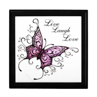 Keep Sake Gift Box/Jewelry Box/Butterfly with Live Large Square Gift Box