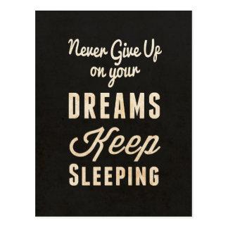 Keep Sleeping Postcard