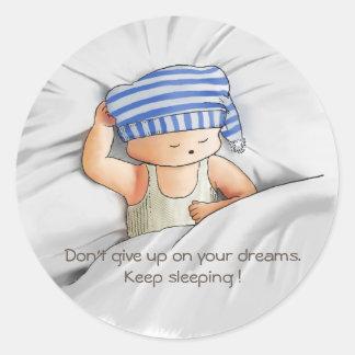 Keep sleeping sticker
