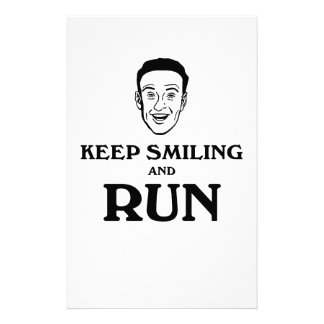 Keep Smiling And Run Stationery