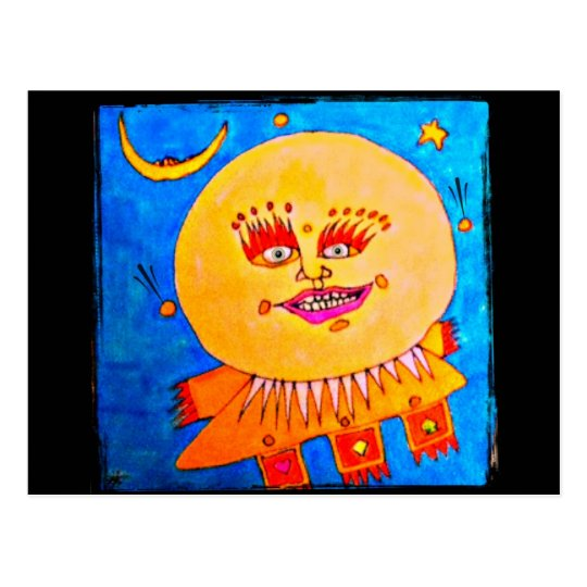 Keep Smiling  Art Postcard