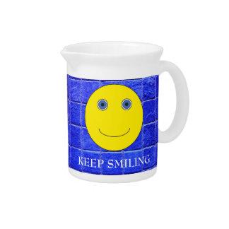 Keep Smiling Beverage Pitchers