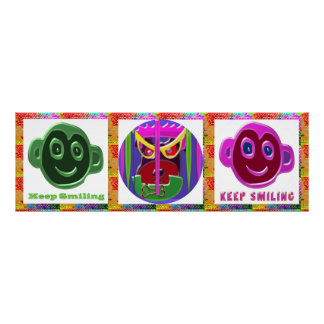 KEEP SMILING : Happy Faces Print