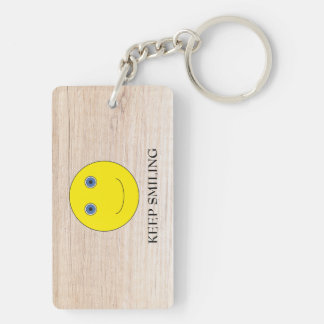 Keep Smiling Key Ring