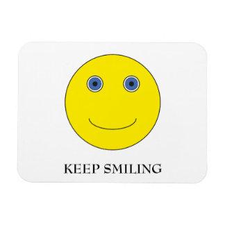 Keep Smiling Rectangular Photo Magnet