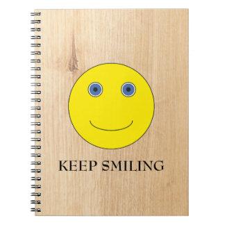 Keep Smiling Spiral Notebook
