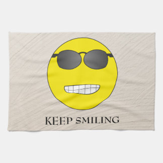 Keep Smiling Tea Towel