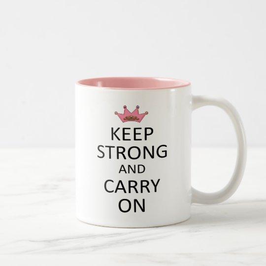 Keep Strong and Carry On Two-Tone Coffee Mug