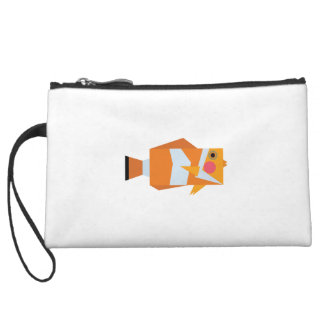 Keep Swimming and Smiling as Clown Fish Shirt Wristlet Clutch