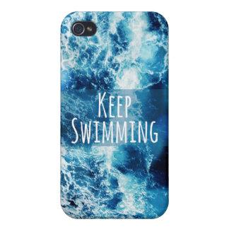 Keep Swimming Ocean Motivational iPhone 4 Case