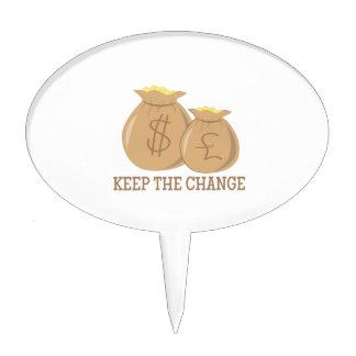 Keep The Change Cake Picks