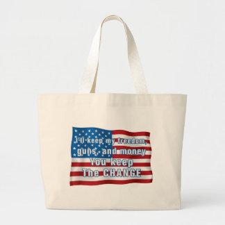 Keep The Change Large Tote Bag