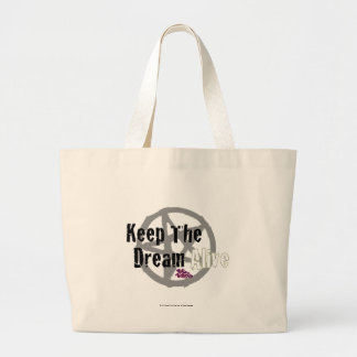 Keep The Dream Alive on Mall Rats Symbol Large Tote Bag