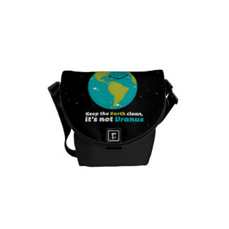Keep The Earth Clean Messenger Bags