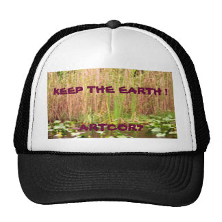 Keep the Earth Water Lilies Cap
