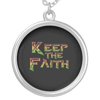 Keep the Faith 2 Silver Plated Necklace