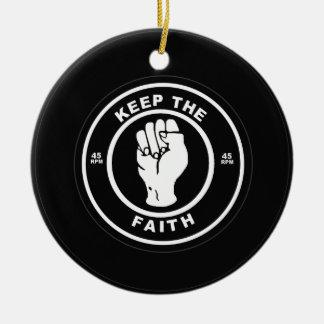 Keep The Faith 45rpm vinyl Christmas Ornament