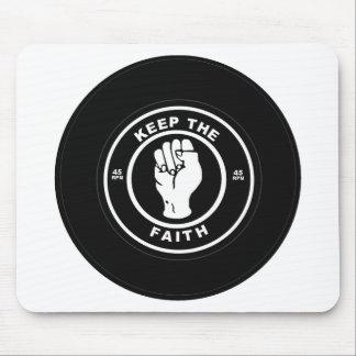 Keep The Faith 45rpm vinyl Mousepad