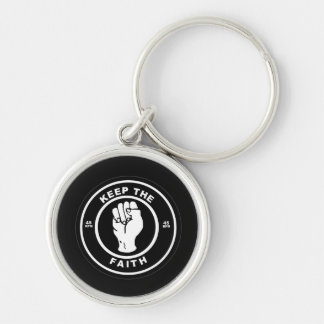 Keep The Faith 45rpm vinyl Premium Keychain