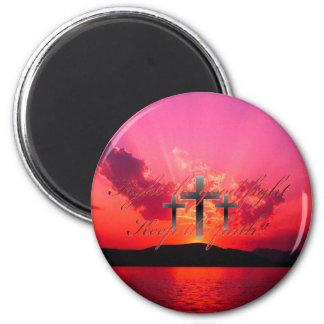 Keep the Faith Sunset 6 Cm Round Magnet