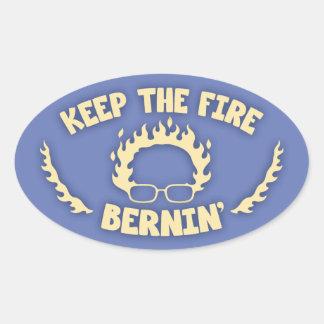 Keep the Fire Bernin' Oval Sticker