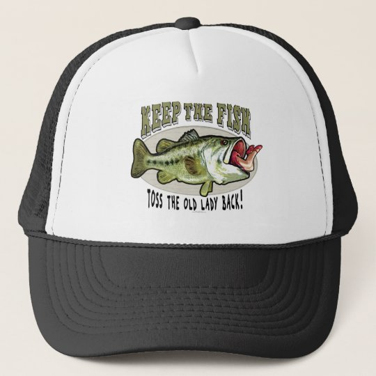 Keep the Fish by Mudge Studios Trucker Hat
