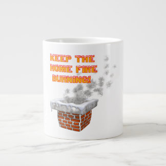 Keep The Home Fire Burning Jumbo Mug