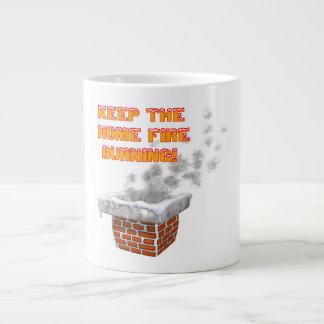 Keep The Home Fire Burning Jumbo Mug