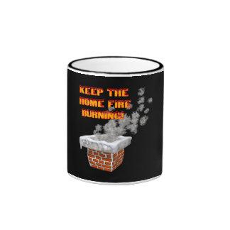 Keep The Home Fire Burning Ringer Mug