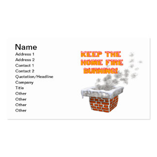 Keep The Home Fire Burning Pack Of Standard Business Cards