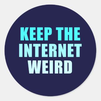 keep the internet weird classic round sticker