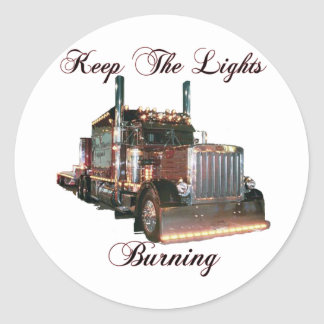 Keep The Lights Burning Classic Round Sticker
