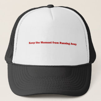 Keep the Moment Line Red Trucker Hat